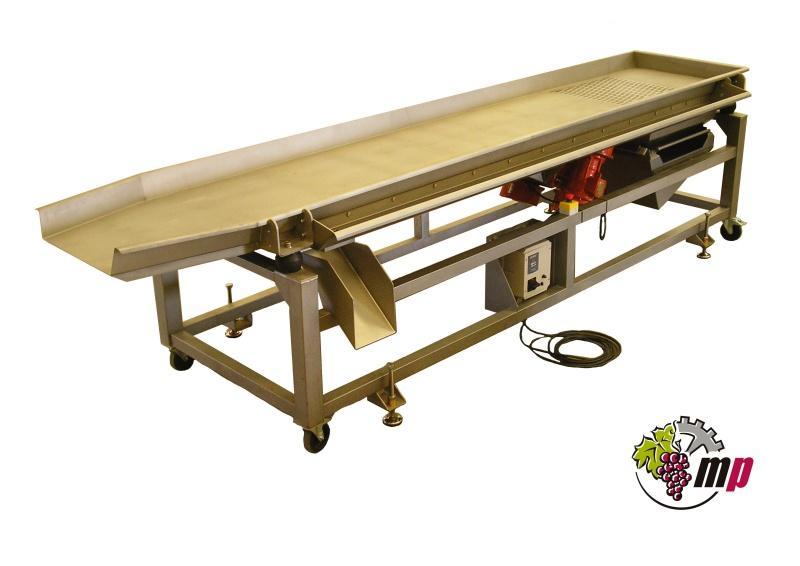 Maquinaria de selección de la uva